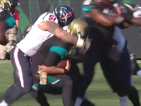 Bortles planted by Simon for loss of 10 on 3rd down
