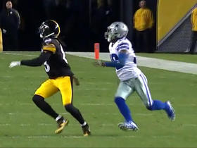 Roethlisberger fires deep shot to Hamilton for 39-yard gain