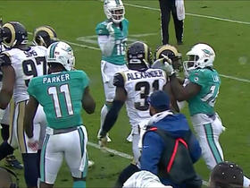 Rams, Dolphins break out in scuffle