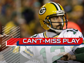 Can't-Miss Play: Rodgers nearly gets helmet ripped off, slings it in