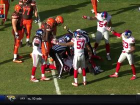 Isaiah Crowell fumbles; recovered by Giants