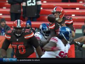 JPP bats away ball from Josh McCown, fumble recovered by Giants