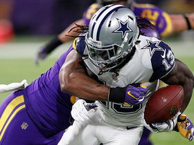 Lucky Whitehead fumbles, recovered by Vikings