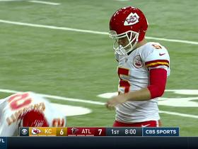 Cairo Santos has an extra point blocked by Falcons