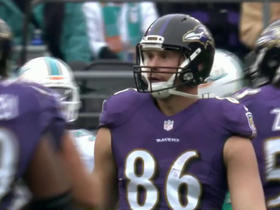 Joe Flacco fires one to Nick Boyle for 20 yards