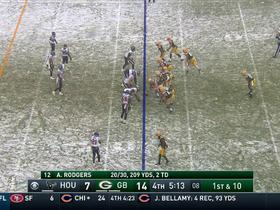 Jeff Janis runs the trick play for a 19-yard gain