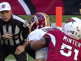 Kirk Cousins sacked by Kevin Minter