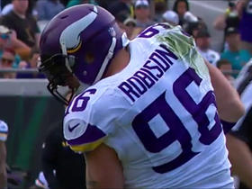 Blake Bortles sacked for a 7-yard loss by Brian Robison