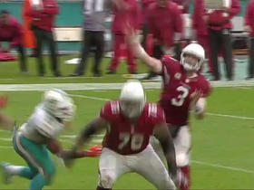 Carson Palmer fires one to Brittan Golden for 9-yard TD strike
