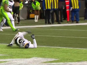 Jared Goff misses Brian Quick in the end zone