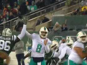 Matt Moore lobs pass to MarQueis Gray for 19 yards