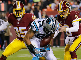 Panthers force Cousins fumble in shadow of own end zone