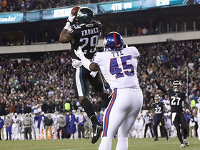 Terrence Brooks picks off Eli Manning, seals Eagles victory