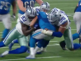 Matthew Stafford sacked for a loss of 10 yards by Cowboys