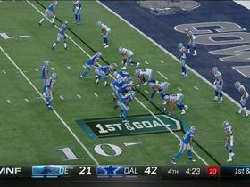 Matthew Stafford strip sacked, Cowboys recover