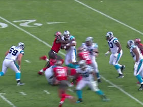 Cam Newton sacked by Robert Ayers