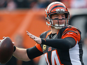 Andy Dalton hits Cody Core for a 22-yard gain