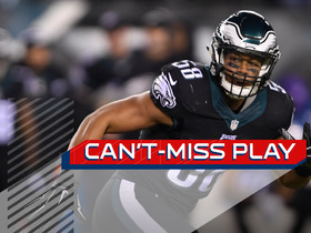 Can't-Miss Play: Jordan Hicks tips pass to himself for an interception
