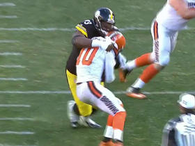 Daniel McCullers wraps up Robert Griffin III for sack