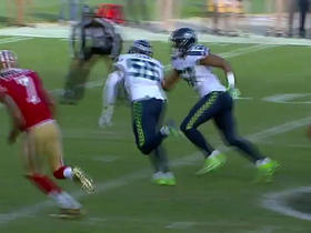 Frank Clark recovers fumble by DuJuan Harris