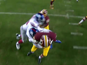 Kirk Cousins sacked for 10-yard loss by Leon Hall