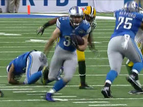 Zach Zenner explodes through hole for 13 yards