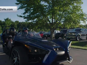Vontae Davis arrives at Colts camp in style