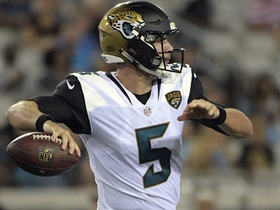 Peter Schrager: Bortles is the better option than Henne for the Jaguars