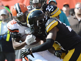 Corey Coleman takes big hit, holds on for tough TD in traffic