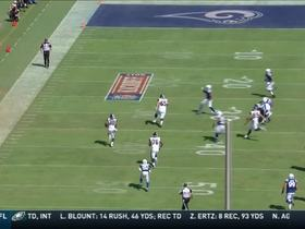 Todd Gurley takes a short pass from Goff and runs for 23 yards