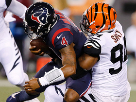 Bengals' defense swarms Deshaun Watson for sack
