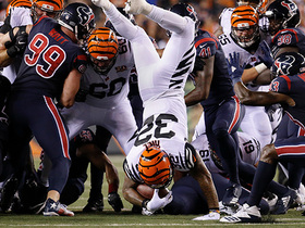 Jeremy Hill GETS UP, front-flips for first down