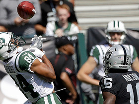 Raiders recover muffed punt at the Jets 4-yard line