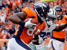 Virgil Green rolls out to catch wide-open 2-yard touchdown from Trevor Siemian