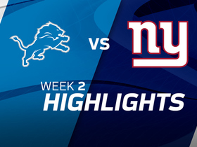 Lions vs. Giants highlights | Week 2