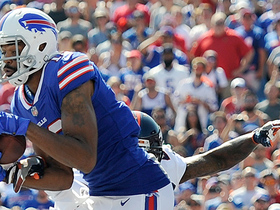 Andre Holmes snags tipped ball by Zay Jones for touchdown