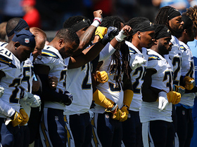 Chargers and Chiefs share moment of unity