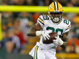 Kentrell Brice GETS UP to make his first career interception