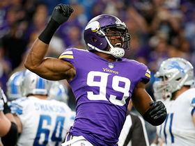 Danielle Hunter opens the game with a sack