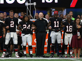 Bills, Falcons link arms for national anthem