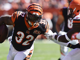 Jeremy Hill sheds multiple tacklers, crosses field for first down