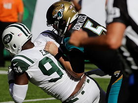 Kony Ealy tips Blake Bortles' pass to himself for red-zone interception