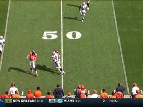 Siemian's pass is too high for A.J. Derby, but Fowler is right there to make catch