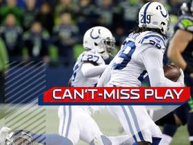Can't-Miss Play: Malik Hooker unleashes wicked stiff arm after one-handed INT