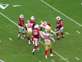 Solomon Thomas takes down Carson Palmer