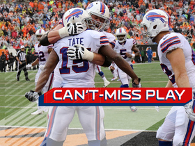 Can't-Miss Play: Brandon Tate dives in heavy coverage for a Bills touchdown