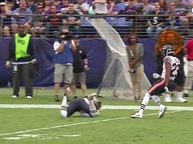 Bryce Callahan makes HUGE 52-yard return after diving INT