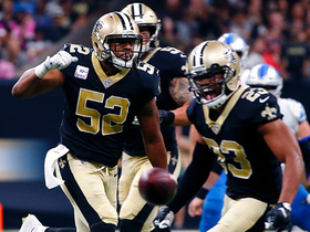 Marshon Lattimore collects first career pick-six after lucky tip