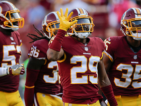 Kendall Fuller ices the win for the 'skins with key interception