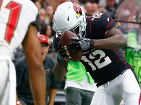 John Brown displays speed on 31-yard catch